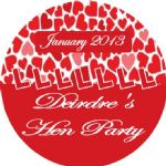 Personalised Hen Night Sticker Design 2